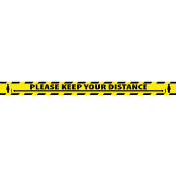 2000mm x 150mm - Please Keep Your Distance